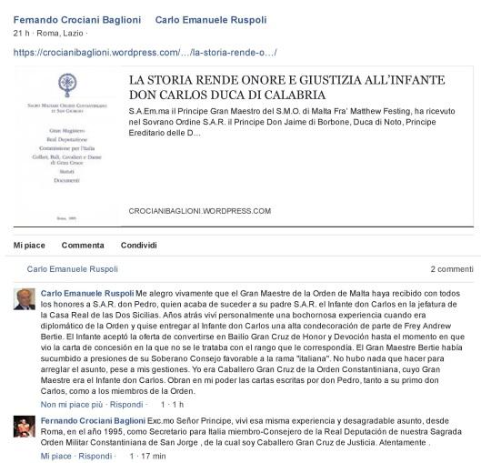 Carlo Emanuele Ruspoli vs Fernando Crociani Baglioni-